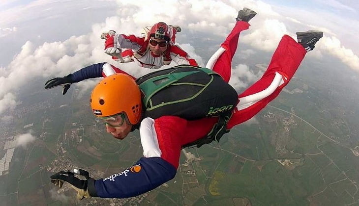 парашют сицилия экстремальный спорт Сицилия прыжки с парашютом Сицилия