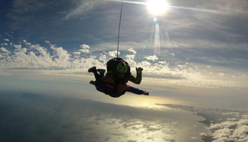 Tandem lancio in paracadute
