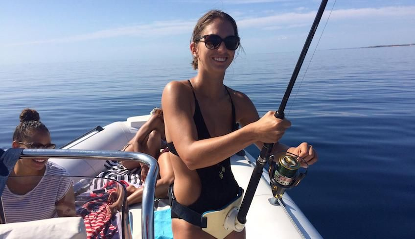 аренда лодки - тур на резиновой лодке динги