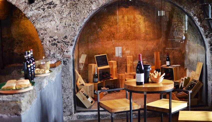 дегустация вина - вина этны сицилия