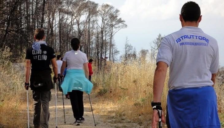 скандинавская ходьба италия  -  техника скандинавской ходьбы