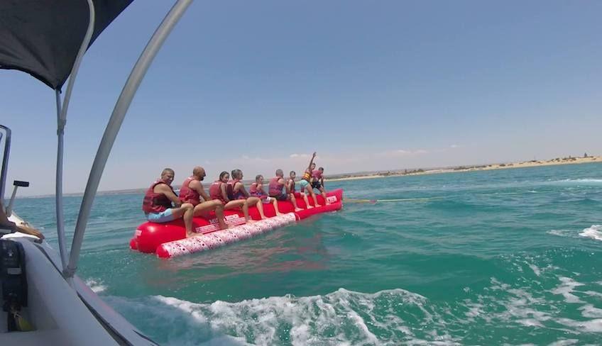 лодка банан - водные забавы