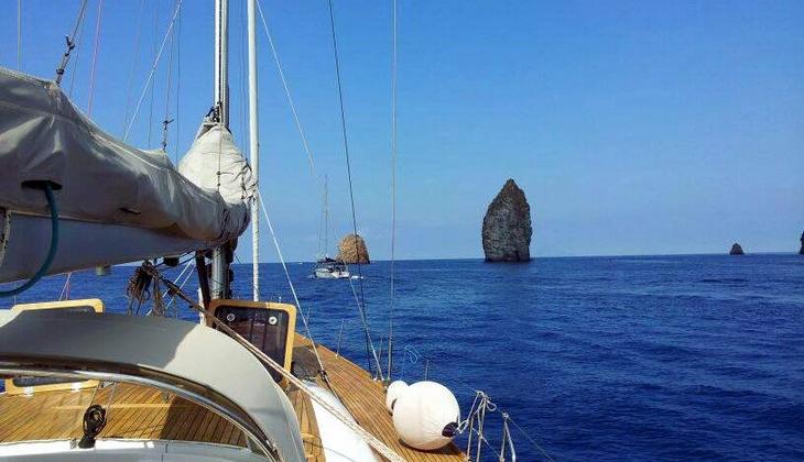 яхта экскурсия на лодке море на Сицилии Липарские острова